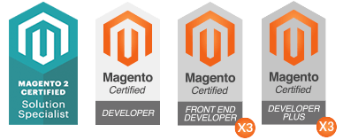 Magento Certified - Developer Plus / Magento Certified - Frontend Developer